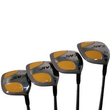 "Men's SV3 +2"" Yellow Square Fairway 3 5 7 9 Wood Set Golf Clubs, Regular Flex"