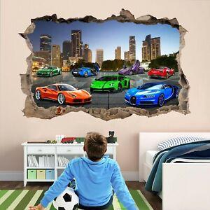 Super Sports Cars Supercar Wall Sticker Mural Decal self-adhesive Print Art DT23
