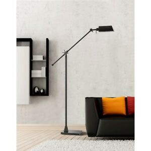 "Cal Lighting LED 62"" Height Metal Floor Lamp, Dark Bronze - BO-2694FL-DB"