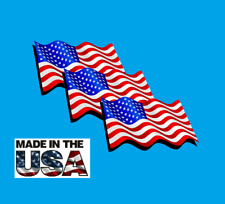 New listing 3 pack Usa American Flag Sticker Decal Army Navy Military Marines Patriotic