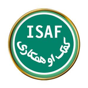 Internacional Seguridad Asistencia Fuerza ( Isaf ) Pin Insignia