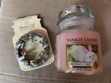 YANKEE CANDLE BUNNY CAKE 14.5 OZ MEDIUM JAR & MATCHING ILLUMA LID -NEW