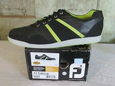 Footjoy Foot Joy Men's Black Green Golf Tennis Shoes spikeless NIB 11.5 11 1/2