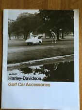 Original 1980 AMF HARLEY-DAVIDSON Golf Car Accessories 12 page Sales BROCHURE