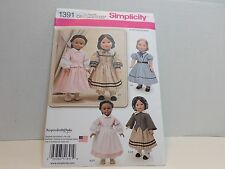 "Simplicity KeepersDollyDuds Designs Sewing Pattern 1391 for 18"" Dolls Uncut"