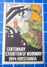 Cinderella/Poster Stamp - 1914 Norway Centenary Exhibition Kristiania 855