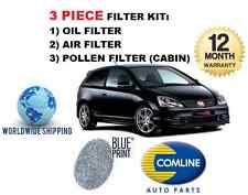 pour Honda Civic 2.0i Type R 2001-2006 air huile KIT ENTRETIEN LE POLLEN 3