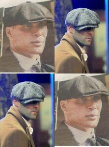 Baker Boy Hat Cap Peaky Blinders Newsboy Herringbone Flat Cap 54cm - 60cm
