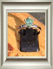 Diamond Three-Stone Sterling Silver Fine Rings