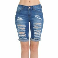 Wax Casual Summer  Denim Shorts Destroyed Bermuda Ripped Jeans Shorts(S-L)