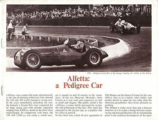 Alfa Romeo Alfetta Type 158 & 159 Racing History Original UK Brochure/Booklet