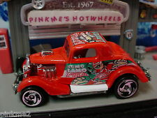 2003 Gift Pack ∞3-WINDOW '34 FORD 1934∞RED∞MUNDO LUCHA∞ LOOSE Hot Wheels
