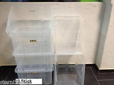 10X Dreh Stapelbox Aufbewahrungsbox Eurobox 44x35x23,5cm 29L Neuware transparent