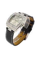 orologio donna bracciale in pelle Nele Fortados - molti strass -.design - A1206