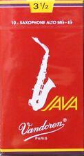 Vandoren Java Red Alto Sax #3-1/2 Reeds, Box of 10, SR2635R