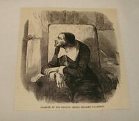 1887 magazine engraving ~ PAUL SCARRON AT HIS WINDOW