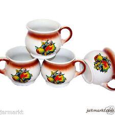 TAZA - 4 Piezas - - Cerámica - Tee- y de Café - sopa - Fruta