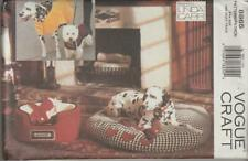 OOP Vogue Sewing Pattern 8865 Dog Accessories Beds Coats Designer Linda Carr