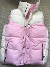 JUICY COUTURE PINK AND Vanilla REVERSIBLE PUFFER VEST size P/XS