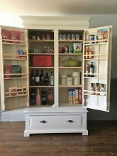 Bespoke Modern Solid Pine Kitchen Larder F&B Shaded White  *Delivery from £50