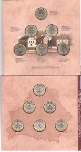 Belarus - set 6 coins 2 Rubles 2019 ( 2020 ) UNC Bimetallic in folder Lemberg-Zp