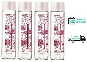 Voss Raspberry Rose Sparkling Water Glass Bottles - Lot of 4 - 12.7 fl (375 ml)