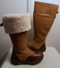 NEW UGG Leather Boots MIKO Tall Chestnut Women's Size 5.5