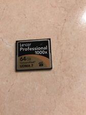 Used Lexar 64GB Compact Flash memory card 800x