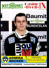 Jürgen Panis Admira Wacker Wien Autogrammkarte + 69333 +A 77062
