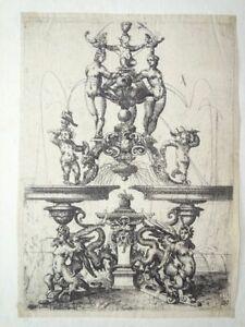 Brunnen Ornamente Barock Pl. 119 Architectura Wendel Dietterlin Radierung 1600