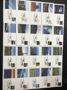 US 5298 O BEAUTIFUL First Day Cover Complete Set Of 20 Unaddressed  Fleetwood