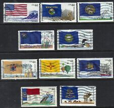 Scott #4303-12 Used Set of 10, Flags of Our Nation Set #4