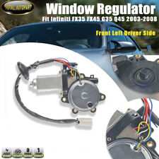 Window Lift Motor for Infiniti FX35 FX45 G35 Q45 02-08 Front Left with Anti-Clip