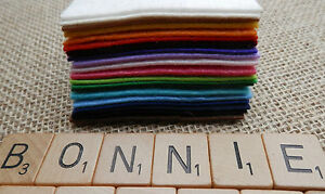 FELT FABRIC x2 A4 Sheets approx. 1mm Thick Quality Christmas Arts & Kids Crafts