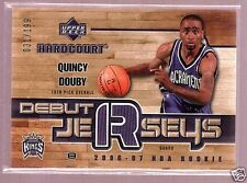 QUINCY DOUBY 06/07 UD HARDCOURT GAME JERSEY RC /199 $20
