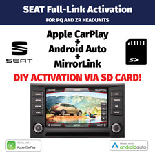SEAT Full Link Activation Apple CarPlay Android Auto PQ ZR via SD CARD