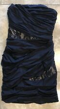 Express Women's Ruched Strapless Bodycon Black Dress Clubwear Size 2 Preowned