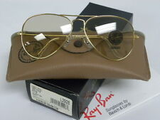 New Vintage B&L Ray Ban Large Metal Arista Gold Changeable Brown L2928 Aviator