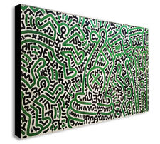 Keith Haring - Homo Decorans - PopArt Canvas Wall Art Framed Print Various Sizes