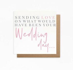 Postponed Wedding Day Card - Cancelled Wedding Card - Would Be Wedding Day Card