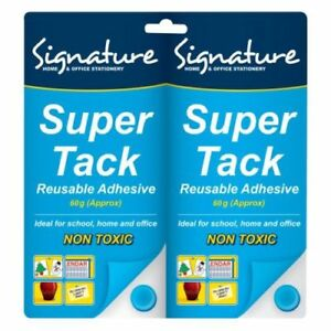 Blu Tack Super Blue Tac Re-usable Adhesive Putty Repositionable Glue 1 x 100g 75