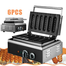 Commercial Nonstick Electric 6pcs Waffle Maker Hot Dog Machine Stick Baker Us