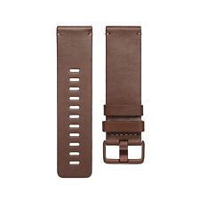 GENUINE Fitbit VERSA Leather Band Smartwatch sz Large,COGNAC FB166LBDBL