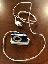 Apple iPod Shuffle BLUE 2nd Gen 1GB MP3 Player A1204 EMC 2125 w/ dock, WORKS!