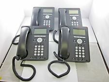 Lot of 4 Avaya 9620L IP Business Telephone w/ Stands & Handsets Tested Working