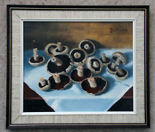 Exceptionally skilled original oil 'Mushrooms' by John Proudfoot