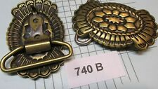 Trinity Concho Buckle 740 B Solid Brass Vintage High Quality Usa Leather Crafts