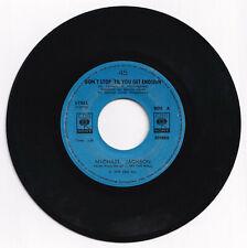 Philippines MICHAEL JACKSON Don't Stop 'Til You Get Enough 45 rpm Record
