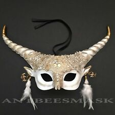 New Women Horned Halloween Prom Costume Party Fantasy Mask