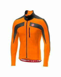 NEW Castelli Trasparente 4 Jersey, Orange/Dark Gray, Size Large
